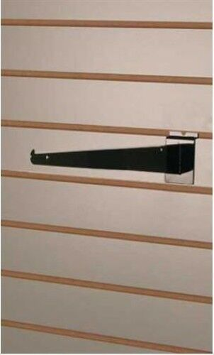 Shelf Bracket in Black 12 Inches for Slatwall Lot of 25