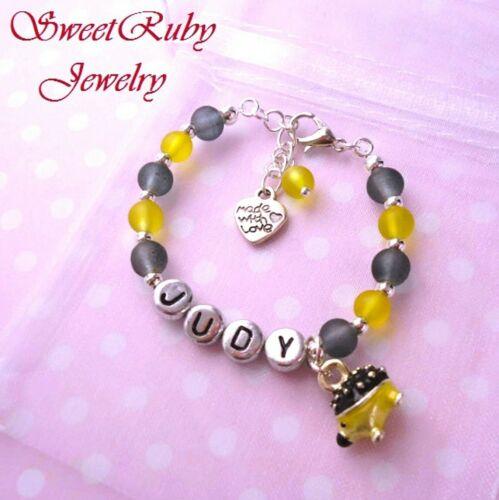 Yellow /& Black Hedgehog Bracelet 3D Hedgehog Charm,Customized Hedgehog Jewelry