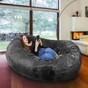 Large Bean Bag Chair 8 Ft Sofa Giant Adult Dorm Furniture Xl Lounge