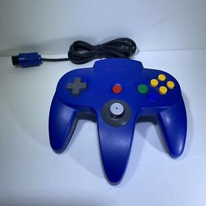 Nintendo-64-Controller-Blue-Authentic-Official-Tested-amp-Working-OEM-Fast-Ship