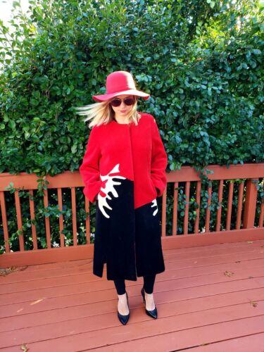 In Wool Red Trench Coat Women's 100 ZIwUdqBd