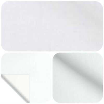 5 Metri Di Cotone Satin Luce Bianca Curtain Fodera Tessuto £ 9.99-mostra Il Titolo Originale