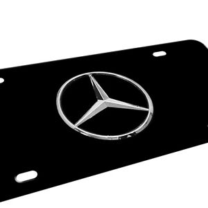 Mercedes benz logo license plates for Mercedes benz license plate logo