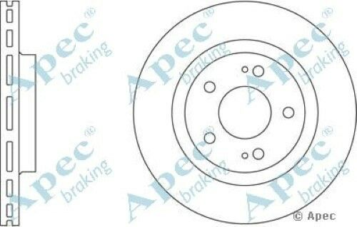 Pair 1x OE Quality Replacement Front Axle Apec Vented Brake Disc 5 Stud 294mm