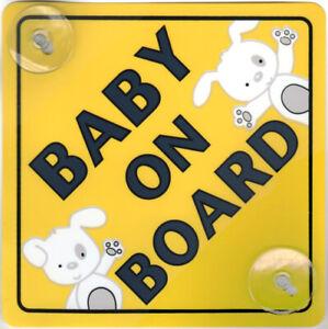 Bébé à bord du véhicule Signe Voiture Enfant pare-brise Sécurité Badge affichage Ventouse