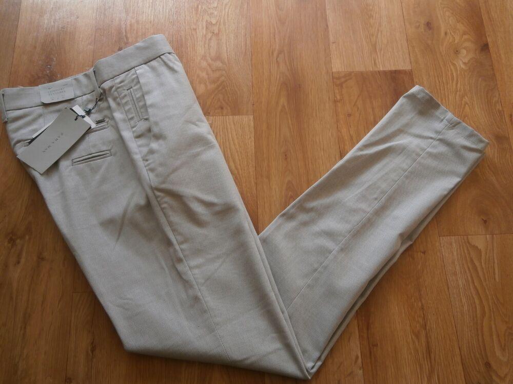 """Amical Hommes Smart Zara Pantalon Confort Textures Gris Taille 31 - 32""""w 33 L Rrp £ 29.99 Pour Effacer L'Ennui Et éTancher La Soif"""