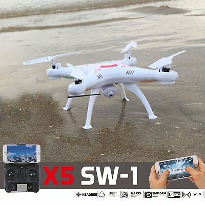 White FPV 2.4G 4CH RC Explorers Quadcopter 6Axis with HD Camera RTF RC X5 Drone