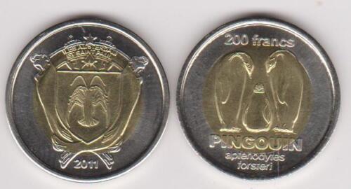 200 Francs 2012 Penguin bimetal AMSTERDAM /& SAINT PAUL French unusual
