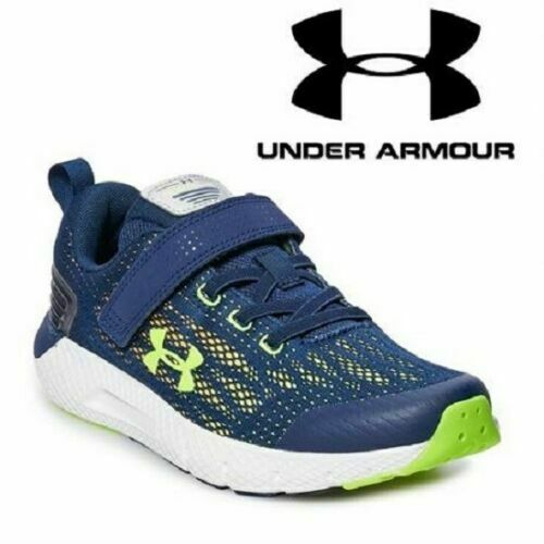 New UNDER ARMOUR Running Sneakers SHOES BOYS CHARGED ROGUE NAVY BLUE Marine