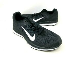 NEW-Nike-Men-039-s-Zoom-Winflo-5-Lace-Up-Running-Shoes-Blk-Wht-7406001-d11b-a