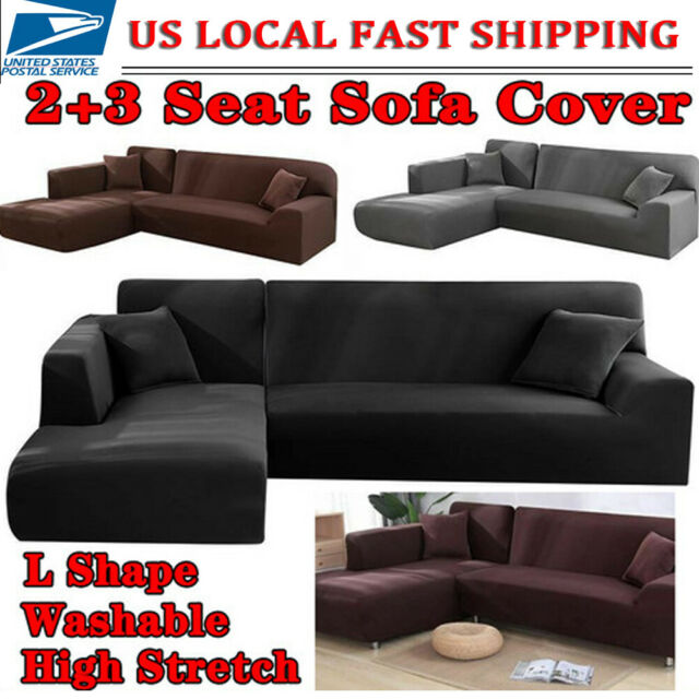 L Shape Couch Cover Stretch Elastic Fabric Sofa Cover Pet  Sectional Corner