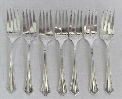6 Oneida Community Par Plate Salad Dessert Forks 1931 CLARION Pattern