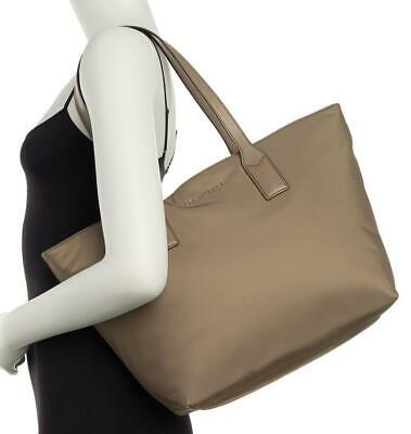 Marc Jacobs Nylon Wingman Tote Bag Top Zip ~Stone Grey~ NWT