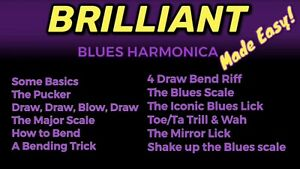 """brilliant Blues Harmonica Made Easy"" Complet Tutoriel Video Course-afficher Le Titre D'origine"