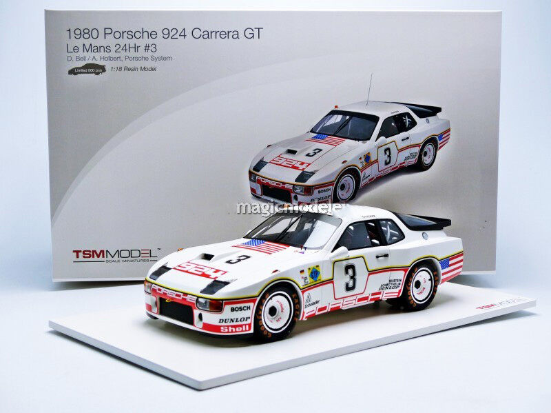 TSM Porsche 924 GT Le Mans 1980 Bell   Holbert in 1 18 Scale Le of 500 New