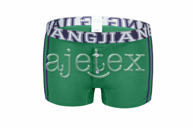Men Slim Flat Buttons Underwear Soft Pants Underpants Briefs Shorts Boxer S-XL