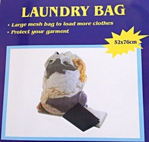 Large Laundry Clothes Storage Carry Mesh Bag 52 X 76cm Strength bag