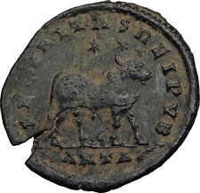 JULIAN II 361AD Bull TAURUS ZODIAC Large Authentic Ancient Roman Coin i58628