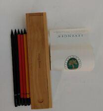 Levenger Timeless Timber Fine Wooden Pencil Box Amp Set Of 6 Faber Castell Pencils