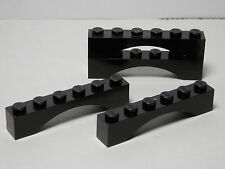 LEGO LEGOS  -  Set of 4 Brick  1 X 6 Arch   BLACK     Star Wars    Harry Potter