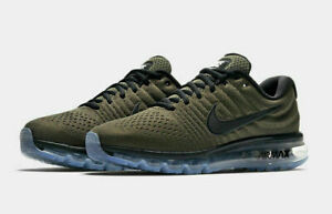 brand new 3c9cb 318df Details about Nike Air Max 2017 Running Shoes Cargo Khaki Green Black  849559-302 Men's NEW
