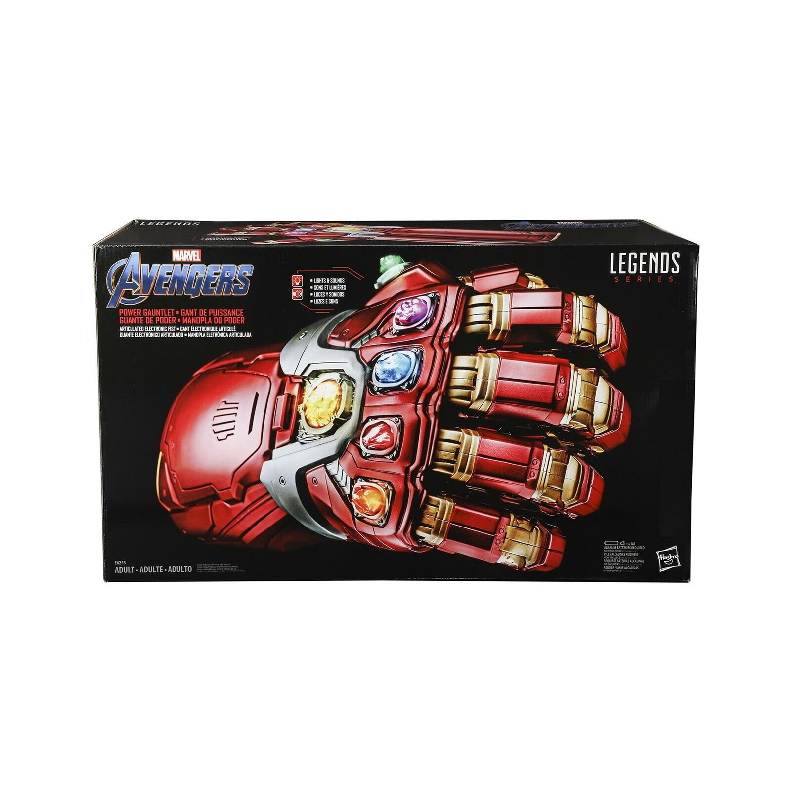 Marvel legends power gauntlet nano endgame electronic  iron homme hasbro  produit de qualité d'approvisionnement
