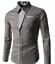 Fashion-Mens-Casual-Shirts-Business-Dress-T-shirt-Long-Sleeve-Slim-Fit-Tops miniature 11