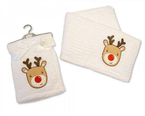 Reindeer Christmas Baby Blanket Gift