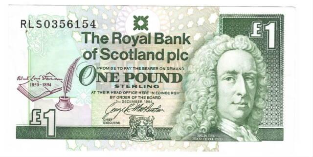 ROYAL BANK of SCOTLAND 1 Pound XF Commemorative Banknote (1994) P-358 RLS Pfx