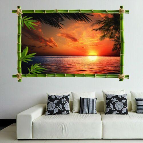 Sea puesta de sol tropical Pared Arte Calcomanía Pegatinas Mural Impresión Hogar Decoración Infantil HD25