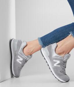 Detalles de Nuevo Sin Caja Para Mujer New Balance estilos de vida  WL574FHC-Gris Claro Zapatillas- ver título original