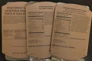 MRE Three Vegetarian Entrees (A3-5)