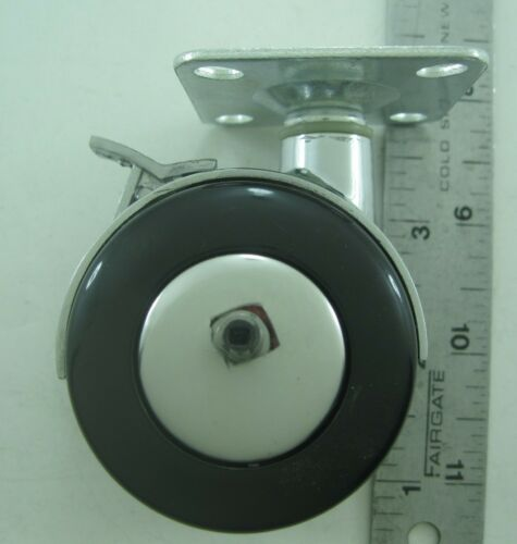 4//pk Heavy metal furniture swivel casters//wheel w// plate /& brake for replacement