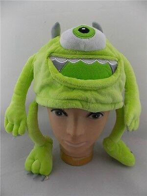 Disney Pixar Monsters University Inc Mike Wazowski Plush Adjustable Cap Hat Ebay
