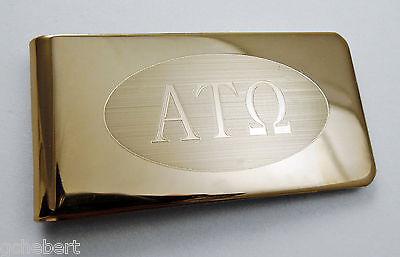 Alpha Tau Omega, ΑΤΩ, Money Clip Greek Letter Brass Money Clip By McCartney