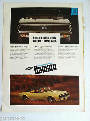 ORIGINAL GM AD 1970 CHEVY CAMARO SPORT COUPE RALLY ONE LOOK SAYS A LOT