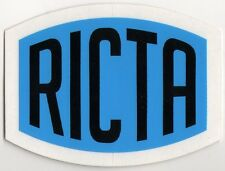 Ricta Wheels Skateboard Sticker - Blue/Black skate snow surf board ipad guitar