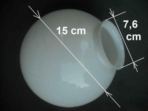Lampenschirm Glas Kugel Ersatz Glasschirm weiß Ø ca 15 cm die Halterung K0879