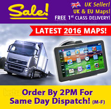 "NEW 7"" Truck Sat Nav 2017 UK & European Maps For HGV, Lorry, LGV Navigation GPS"