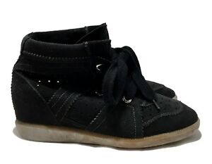 ISABEL-MARANT-039-BETTY-039-BLACK-WEDGE-SNEAKERS-38-665