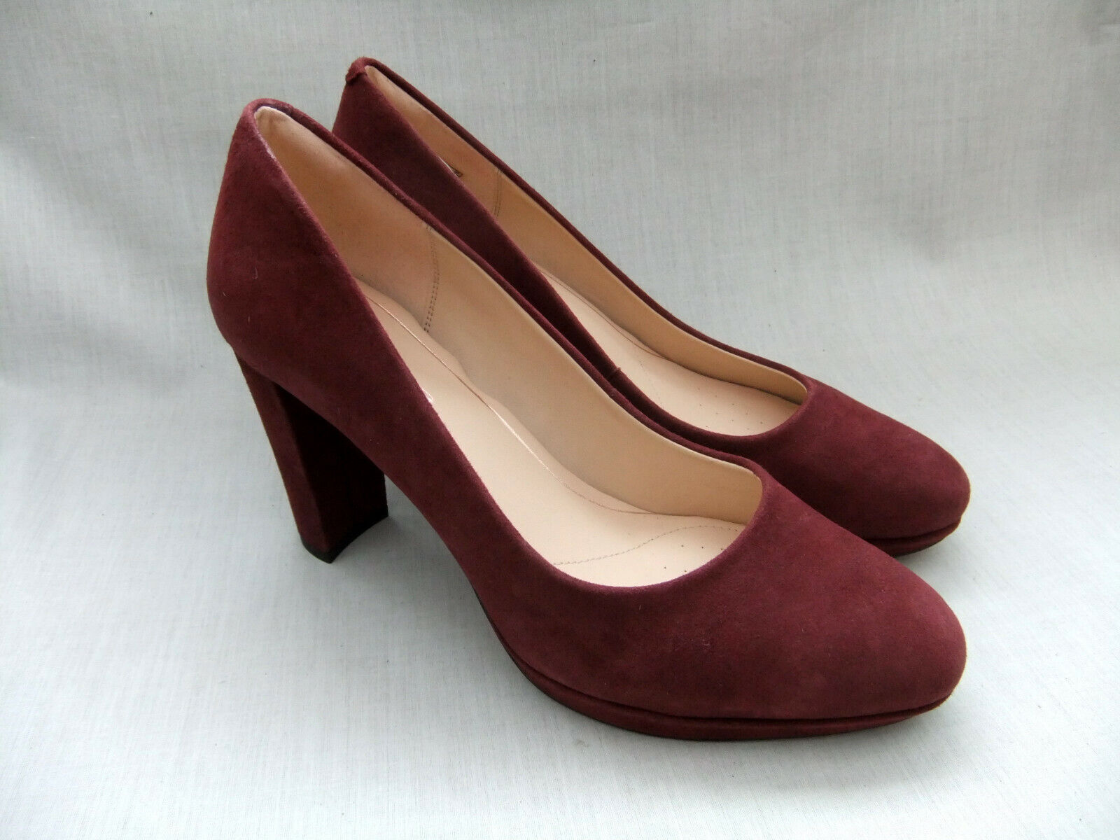 NEW CLARKS KENDRA SIENNA WOMENS BURGUNDY SUEDE PLATFORM SHOES SIZE SIZE SIZE 8   42 3f91a8
