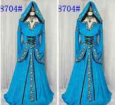 US Ship Hofadel Renaissance Medieval Game Costume Cosplay Dress Gown Cape Hoodie