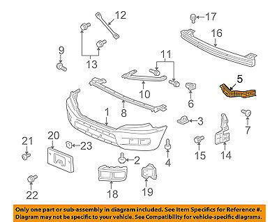 06-14 Genuine Honda Ridgeline Front Bumper Spacer Support Bracket Left OEM