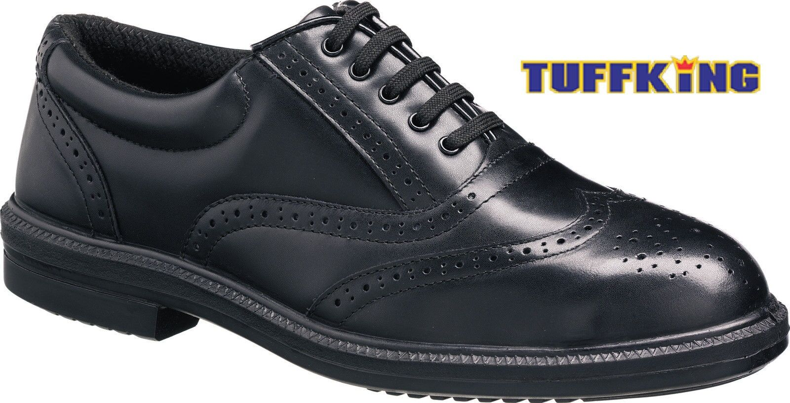 Tuffking 9076 S1P Nero Acciaio Puntale Oxford Scarpe CALATA Executive Sicurezza Lavoro Scarpe Oxford 00a55a