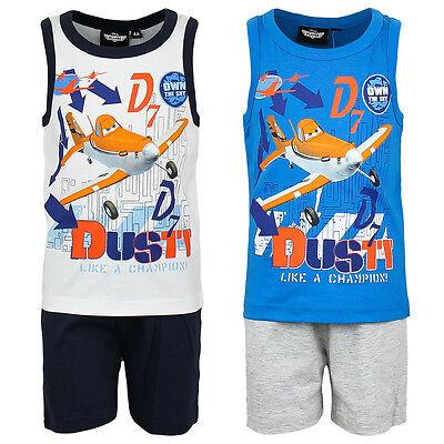 Initiative Pyjama Set Schlafanzug Jungen Planes Blau Grau Orange Schwarz 98 104 116 128 #19