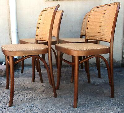 811 Prague Chair Set Josef Hoffmann Nos New Cane Bentwood