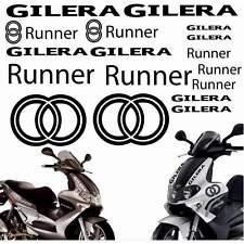 SET ADESIVI CARENA CARENE NERO GILERA RUNNER STICKERS LOGO GRAFICA