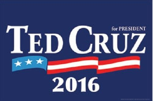 Ted Cruz For President 2016 Campaign Rally Sign Poster