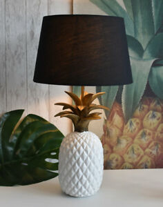 Ananas-Lampe-de-table-or-chevet-nuit-eclairage-NEUF