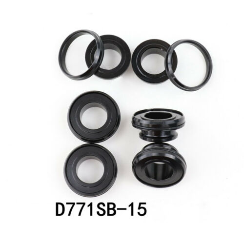 For NOVATEC D771SB Hub Conversion Kits Adapters End Cap Aluminum Alloy Black